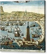 The City And Port Of Barcelona 18th C Acrylic Print