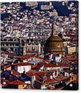 The City From Parc Du Chateau Castle Acrylic Print