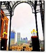The City Of London Seen From The South Bank Acrylic Print