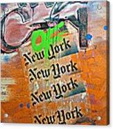 The City Of New York Acrylic Print