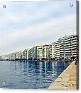 The City Of Thessaloniki. Acrylic Print