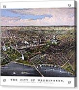 The City Of Washington Birds Eye View Acrylic Print