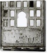 The City Palace Window Acrylic Print