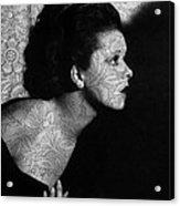 The Clara Bow Tattoo Acrylic Print