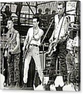 The Clash 1982 Acrylic Print by Chuck Spang