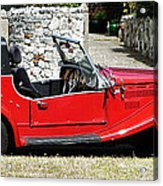 The Classic Red Convertible  Acrylic Print