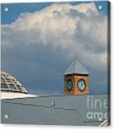 The Clock And The Dome Acrylic Print