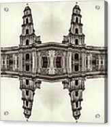 The Clones Of The Church Ruins Sepia Acrylic Print