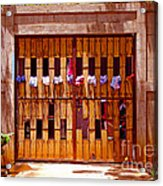 The Clothes Door Acrylic Print