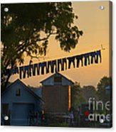 The Clothes Line Acrylic Print