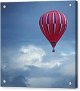 The Clouds Below - Hot Air Balloon Acrylic Print