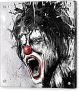 The Clown Acrylic Print by Balazs Solti