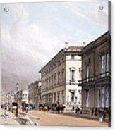 The Club Houses, Pall Mall, 1842 Acrylic Print by Thomas Shotter Boys