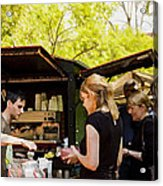 The Coffee Cart Acrylic Print