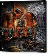 The Coffer Of Spells Acrylic Print by Alessandro Della Pietra