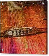 The Color Of Music Digital Guitar Art By Steven Langston Acrylic Print by Steven Lebron Langston