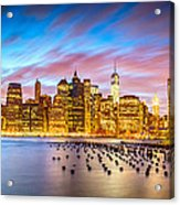The Color Of New York City Acrylic Print
