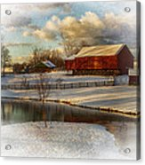 The Color Of Winter Acrylic Print by Kathy Jennings