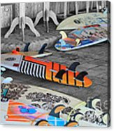 The Colorfulness Of Surfing Acrylic Print