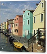 The Colors Of Burano Acrylic Print
