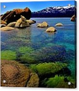 The Colors Of Lake Tahoe Acrylic Print