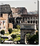 The Colosseum Through The Forum Acrylic Print