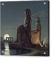 The Colossi Of Memnon, Thebes, One Acrylic Print