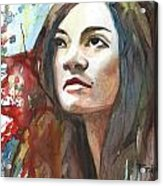 The Confident Miss Taggart Acrylic Print
