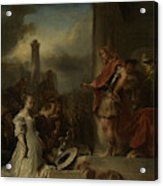 The Continence Of Scipio, Jan Van Noordt Acrylic Print