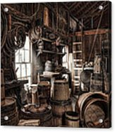 The Coopers Shop - 19th Century Workshop Acrylic Print