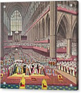 The Coronation Of King William Iv And Queen Adelaide, 1831 Colour Litho Acrylic Print