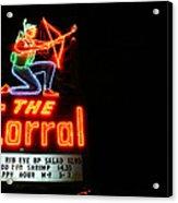 The Corral Acrylic Print