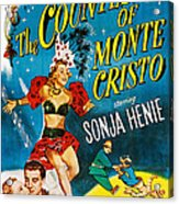 The Countess Of Monte Cristo, Us Poster Acrylic Print