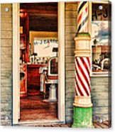 The Country Barber Acrylic Print