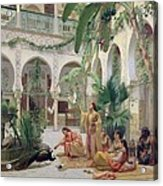 The Court Of The Harem Acrylic Print by Albert Girard