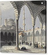 The Court Of The Mosque Of Sultan Acrylic Print