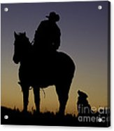 The Cowboy And His Dog Acrylic Print