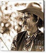 The Cowboy Angler Acrylic Print