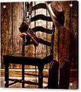 The Cowboy Chair Acrylic Print