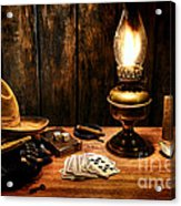 The Cowboy Nightstand Acrylic Print