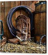 The Cowboy Acrylic Print by Paul Ward