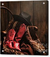 The Cowgirl Rest Acrylic Print by Olivier Le Queinec