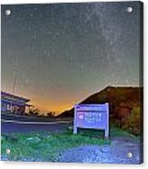 The Craggy Pinnacle Visitors Center At Night Acrylic Print