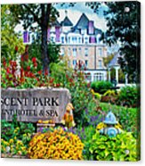The Crescent Hotel In Eureka Springs Arkansas Acrylic Print by Gregory Ballos