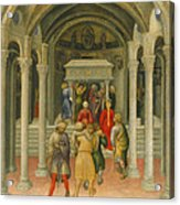 The Crippled And Sick Cured At The Tomb Of Saint Nicholas Acrylic Print by Gentile da Fabriano