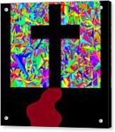 The Cross In Fauvism Acrylic Print