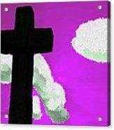 The Cross On Purple Acrylic Print