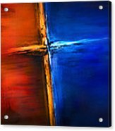 The Cross Acrylic Print by Shevon Johnson