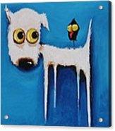 The Crow And The Dog Acrylic Print