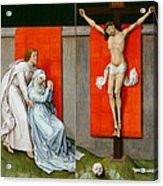 The Crucifixion With The Virgin And Saint John The Evangelist Mourning Acrylic Print